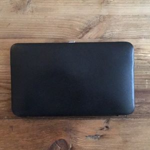 Lodis Los Angeles black leather wallet/Clutch